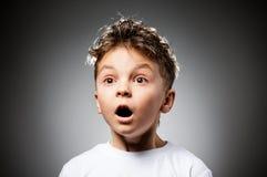 Эмоциональный мальчик Стоковые Фото