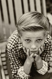 Портрет мальчика Стоковые Изображения