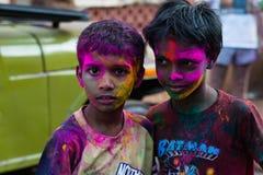 Портрет 2 мальчиков в Индии Стоковая Фотография