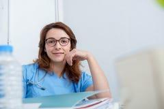 Портрет медицинского доктора с стетоскопом Стоковое Фото