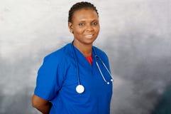 Портрет медсестры молодой женщины стоковые изображения rf