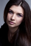 Портрет милой модели с роскошным составом Стоковое фото RF
