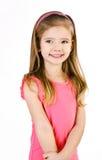 Портрет милой ся изолированной маленькой девочки Стоковое Фото