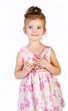 Портрет милой ся маленькой девочки в платье princess стоковое изображение rf