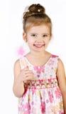 Портрет милой ся маленькой девочки в платье princess Стоковые Изображения