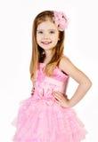 Портрет милой ся маленькой девочки в платье princess Стоковая Фотография RF