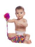 Портрет милого ребёнка с яркой боковиной из цветного каучука Стоковая Фотография