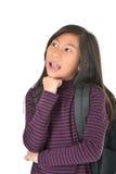 Портрет милой девушки смотря вверх что-то Стоковое Изображение