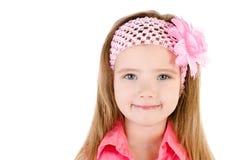 Портрет милой усмехаясь изолированной маленькой девочки Стоковые Фото