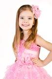 Портрет милой усмехаясь маленькой девочки в платье принцессы Стоковые Изображения RF