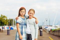 Портрет милые маленькие девочки Стоковая Фотография