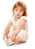 портрет младенца близкий счастливый вверх Стоковая Фотография