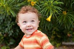 портрет младенца счастливый стоковые фото