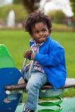 портрет младенца черный играя Стоковое Фото