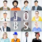 Портрет многонациональных смешанных людей занятий Стоковое Изображение