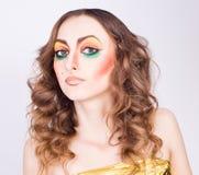Портрет модели женщины способа Стоковые Фотографии RF