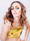 Портрет модели женщины способа Стоковое Фото
