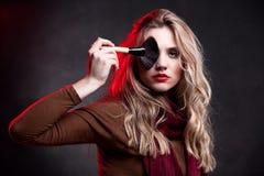 портрет модели состава стиля причёсок способа Стоковая Фотография