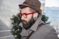 Портрет молодого бизнесмена битника Стоковые Фотографии RF