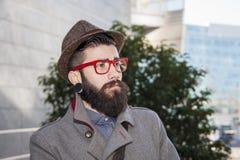 Портрет молодого бизнесмена битника Стоковое Изображение