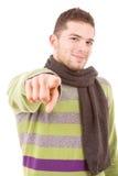 Портрет молодого вскользь человека Стоковые Фото