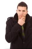 Портрет молодого вскользь человека стоковые изображения rf