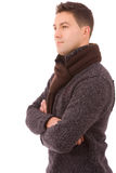 Портрет молодого вскользь человека Стоковая Фотография RF