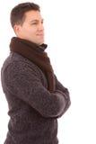 Портрет молодого вскользь человека, стоковое изображение