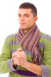 Портрет молодого вскользь человека Стоковое Изображение RF