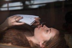 Портрет молодой великобританской модели Стоковая Фотография