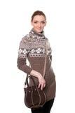 Портрет молодой женщины в свитере стоковые изображения