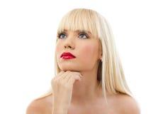 Портрет молодой красивейшей белокурой женщины Стоковые Фото
