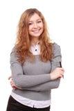 Портрет молодой привлекательной женщины дела. Стоковое фото RF