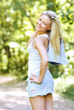 Портрет молодой счастливой девушки Стоковые Изображения RF