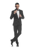 Портрет молодого бизнесмена изолированного на белой предпосылке Стоковое Изображение
