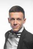 Портрет молодого бизнесмена изолированного на белой предпосылке Стоковое фото RF