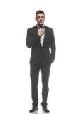 Портрет молодого бизнесмена изолированного на белой предпосылке Стоковая Фотография RF