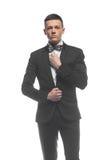 Портрет молодого бизнесмена изолированного на белой предпосылке Стоковое Изображение RF