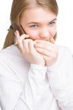 Портрет молодого девочка-подростка держа секрет Стоковые Фотографии RF