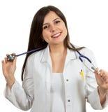Портрет молодого женского доктора держа стетоскоп Стоковое фото RF