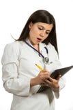 Портрет молодого женского доктора смотря серьезный Стоковая Фотография RF