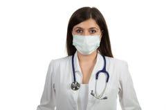 Портрет молодого женского доктора с маской Стоковые Изображения RF