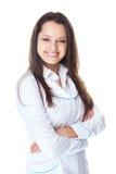 Портрет молодого усмехаясь доктора женщины Стоковые Фото