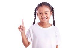 Портрет молодой азиатской девушки изолированной на белизне Стоковые Фото