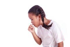 Портрет молодой азиатской девушки изолированной на белой предпосылке Стоковые Фото