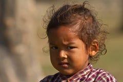 Портрет молодой девушки taru в Непале Стоковая Фотография
