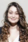 Портрет молодой женщины брюнет Стоковое Изображение