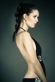 Портрет молодой женщины в платьях вечера Стоковое Изображение RF
