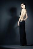 Портрет молодой женщины в элегантных платьях вечера Стоковая Фотография