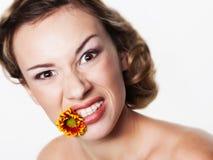 Портрет с зубоврачебными расчалками стоковое изображение